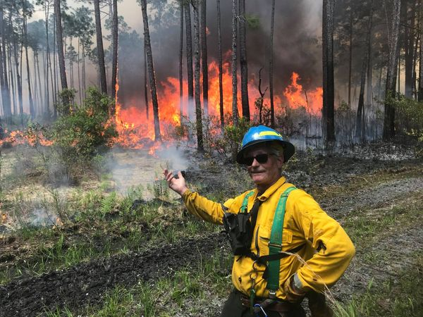 Picture of Andrew at prescribed burn